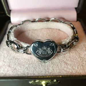 JUICY COUTURE heart bracelet silver with box